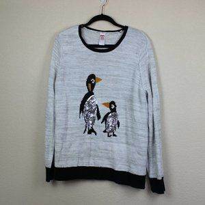 Holiday Time Christmas Sweater Penguins size XXL